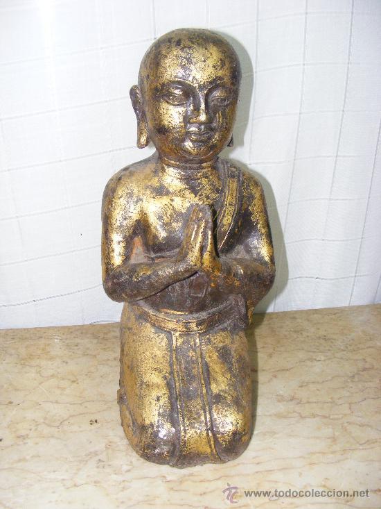 MONJE BUDISTA (Arte - Escultura - Hierro)