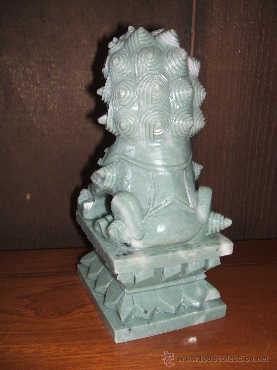 Arte: Dragón tallado en piedra. Oriental. - Foto 2 - 28337037