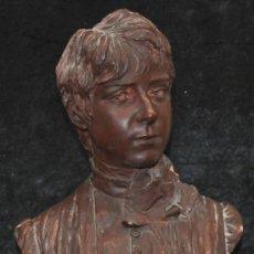Arte: ANTOINE BOFILL (ACT.1875-1925) FIGURA EN TERRACOTA FIRMADA Y FECHADA DEL AÑO1890. BUSTO FEMENINO. Lote 28409251