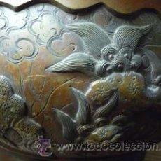 Arte: MAGNÍFICA JARDINERA JAPONESA EN BRONCE. PERÍODO MEIJI (1868-1912). Lote 29997243