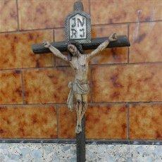 Arte: TALLA DE CRISTO CRUCIFICADO EN MADERA XVIII. Lote 28768652