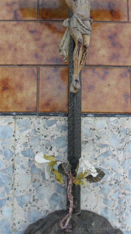 Arte: talla de cristo crucificado en madera XVIII - Foto 4 - 28768652