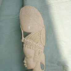 Arte: PRECIOSA TALLA AFRICANA EN MARFIL BUSTO DE MUJER 28 CM DE 1896. Lote 28836814