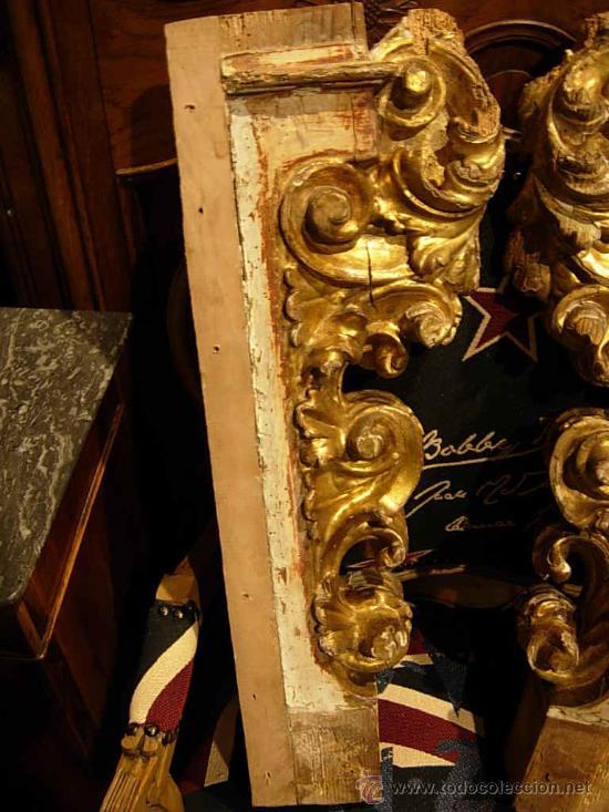 Arte: FANTASTICAS MENSULAS O COLUMNAS DORADAS DE MADERA DEL XVIII - Foto 2 - 29141532