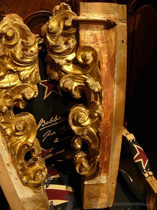 Arte: FANTASTICAS MENSULAS O COLUMNAS DORADAS DE MADERA DEL XVIII - Foto 3 - 29141532