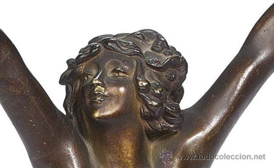Arte: ANDALUZA CLAIRE JEANNE ROBERT COLINET . Escultura de bronce patinada en frío . 1920 . Firmada - Foto 3 - 29512232