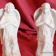 Arte: PAREJA DE ANGELES BISCUIT SIGLO XIX. Lote 30889827