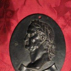 Arte: EMPERADOR GALBA: BELLISIMA PLAQUETA OVALADA EN BRONCE. OBRA ITALIANA DEL S. XVII O XVIII. Lote 30990026