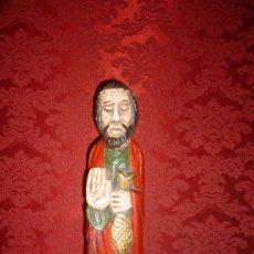 Arte: TALLA APOSTOL CON PEZ 35 CM. Lote 31335911