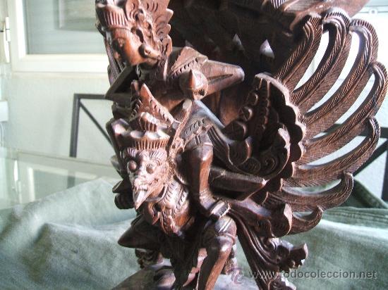 Arte: GARUDA DE INDONESIA DE EBANO - Foto 7 - 38616366