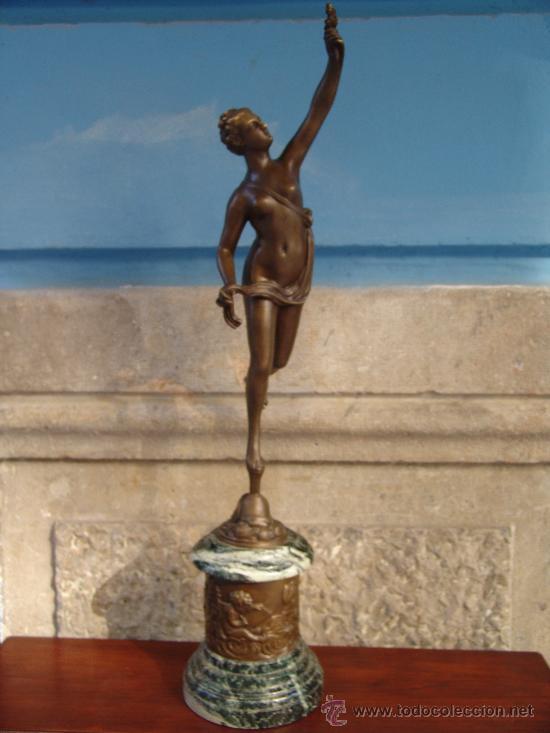 Arte: PAREJA DE BRONCES:VENUS Y MERCURIO - Foto 2 - 32059999