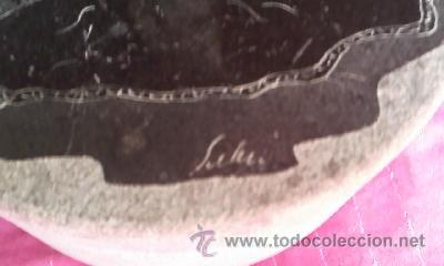 Arte: Caja tallada en piedra con un dibujo en la tapa de una mujer china firmado por SUELLEN - Foto 2 - 32508079