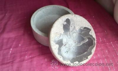 Arte: Caja tallada en piedra con un dibujo en la tapa de una mujer china firmado por SUELLEN - Foto 4 - 32508079