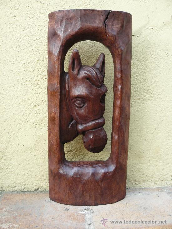 TALLA EN MADERA- CABEZA DE CABALLO (Arte - Escultura - Madera)