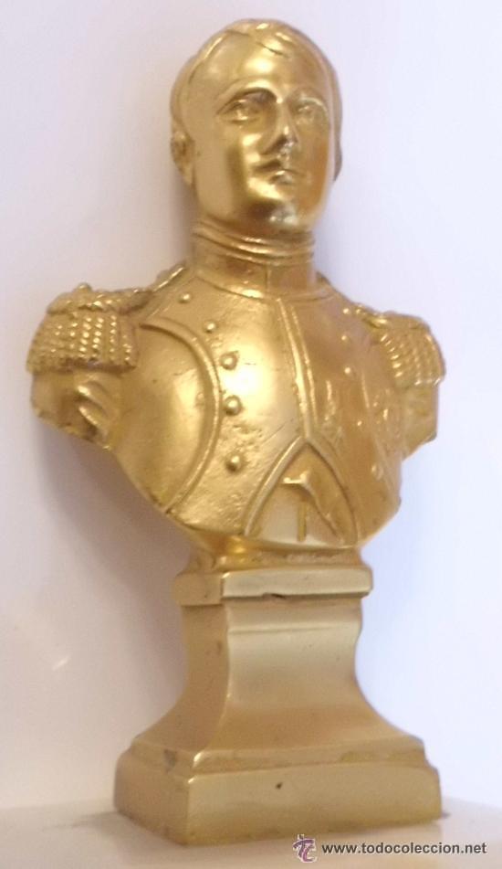 BUSTO DE NAPOLEON EN BRONCE CON PAN DE ORO , PIEZA DE GRAN CALIDAD (Arte - Escultura - Bronce)