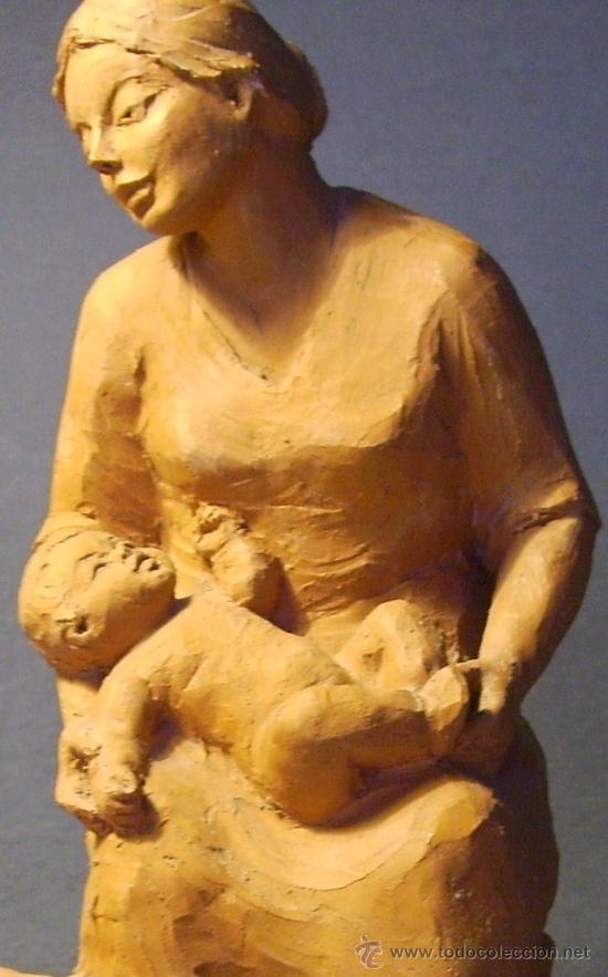 MATERNIDAD. ESCULTURA DE TERRACOTA (Arte - Escultura - Terracota )