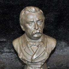 Arte: MANUEL FUXÀ LEAL (BARCELONA, 1850 - 1927) ESCULTURA EN TERRACOTA PATINADA. BUSTO. Lote 33519241