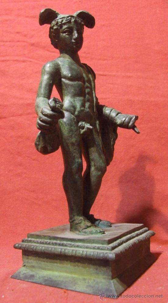 Escultura En Bronce Del Dios Hermes Griego O Me Verkauft Durch