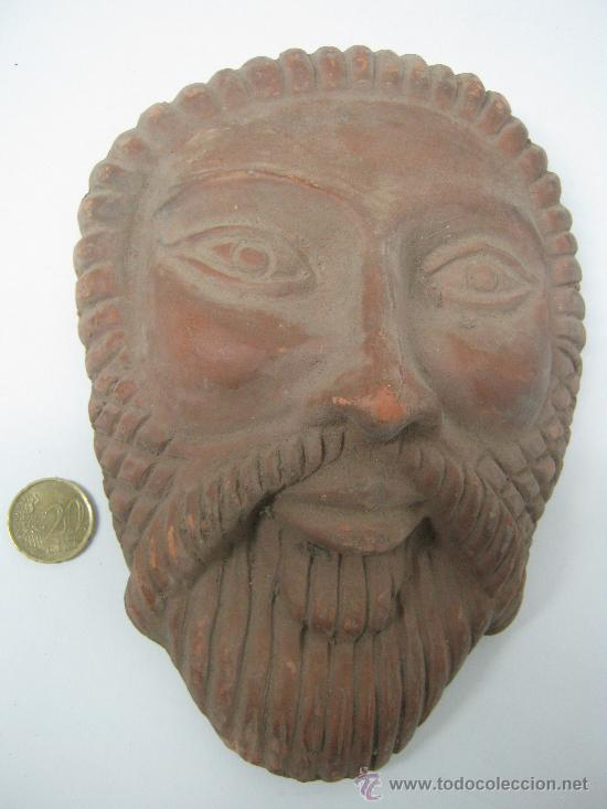 ANTIGUA REPLICA MASCARA ROMA - ARCILLA COCIDA (Arte - Escultura - Terracota )
