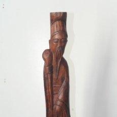 Arte: TALLA EN MADERA ESCULTURA ASIATICA ANCIANO SABIO CHINO. Lote 34134505