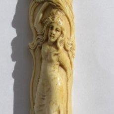 Arte: EXTRAORDINARIA FIGURA EN MARFIL. ART NOUVEAU. SECESIÓN. CIRCA 1880. AUSTRIA.. Lote 34323845