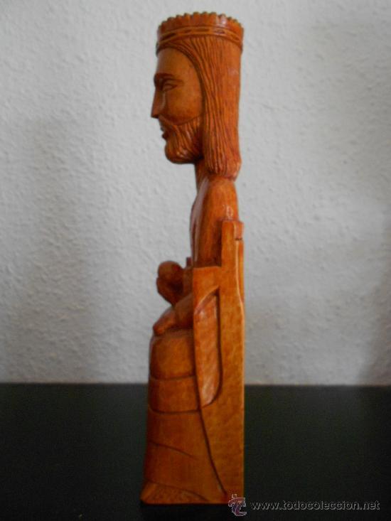 Arte: talla de madera -Cristo de madera con orbe- - Foto 3 - 35155891