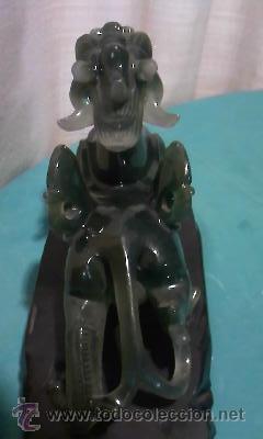 Arte: Espectacular dragón chino en resina verde. No le falta detalle. - Foto 7 - 36668390