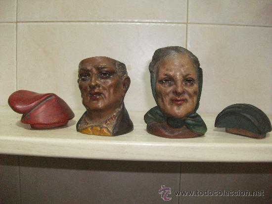 Arte: Pareja de bustos de Catalanes I.Buxo-Olot,originales no copias - Foto 2 - 35234234