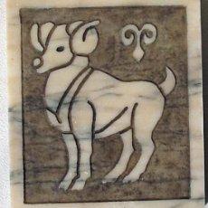 Arte: SIGNO ZODIACAL DE ARIES - MARMOL NATURAL ENVEJECIDO - TENGO MODELOS DE TODOS LOS SIGNOS. Lote 35391244