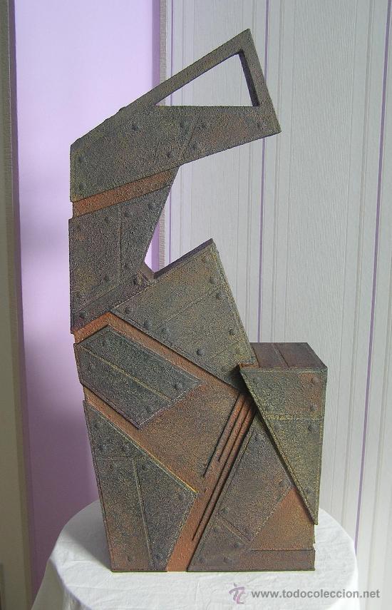 Excelente escultura abstracta del reconocido ar comprar - Esculturas de madera abstractas ...