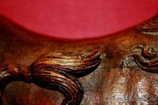 Arte: ESCULTURA DE BULTO REDONDO REALIZADA EN MADERA DE NOGAL FINALES DEL S XVI?PROBABLE REMATE DE ESCALER - Foto 23 - 36355346