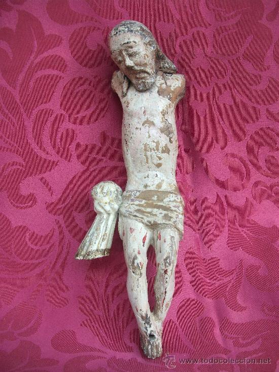 TALLA DE CRISTO EN MADERA, S. XVII (Arte - Escultura - Madera)