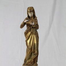 Arte: LISEUSE. ESCULTURA CRISELEFANTINA FIRMADA POR ERNEST CARRIER-BELLEUSE. GRAND PRIX DU SALON. S. XIX.. Lote 36540434