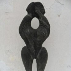 Arte: ESCULTURA PARECE PIEDRA DE AZABACHE. Lote 36852520