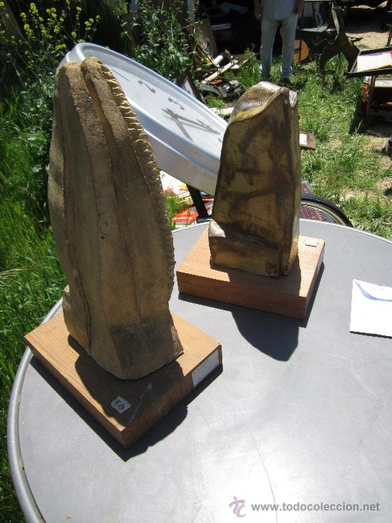 Arte: Escultura en piedra - abstracto - titulo - PALMAS - firma S - medida 43x24 cm. otroarte - Foto 3 - 37244305