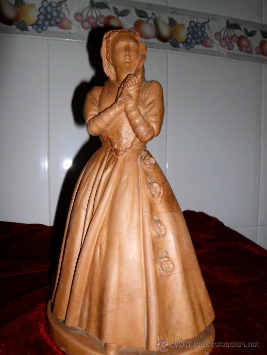 Arte: Antigua escultura de Dama Victoriana en terracota - Foto 4 - 37436912