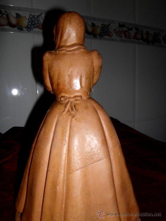 Arte: Antigua escultura de Dama Victoriana en terracota - Foto 9 - 37436912