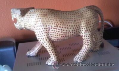 Arte: Escultura de madera de Tigre dientes de sable. - Foto 3 - 37771571