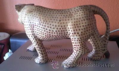 Arte: Escultura de madera de Tigre dientes de sable. - Foto 4 - 37771571