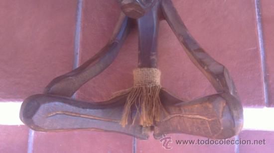 Arte: GRAN TALLA AFRICANA TRES CUERPOS EN MADERA CON PELO - Foto 9 - 37860654