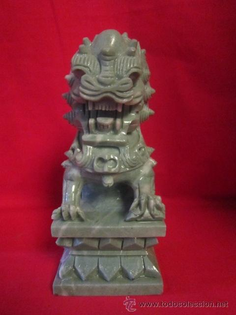 Arte: Dragón tallado en piedra. Oriental. - Foto 4 - 28337037