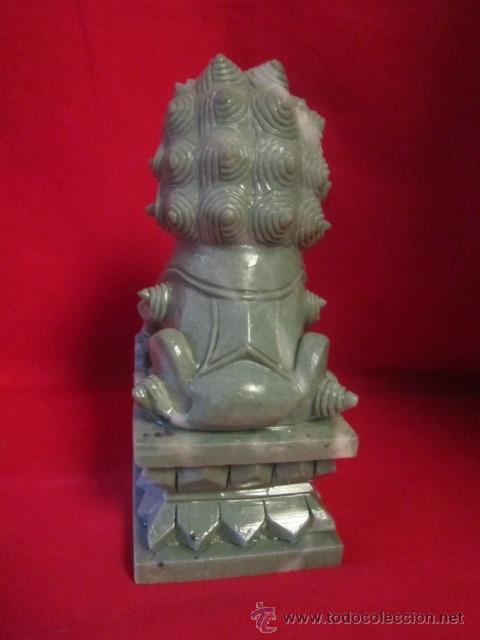 Arte: Dragón tallado en piedra. Oriental. - Foto 3 - 28337037