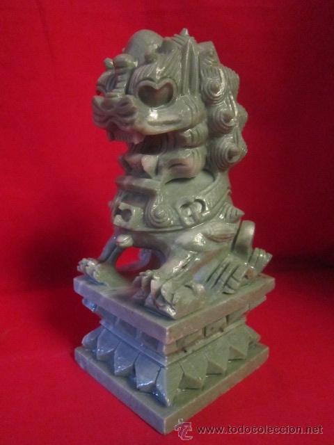 DRAGÓN TALLADO EN PIEDRA. ORIENTAL. (Arte - Escultura - Piedra)