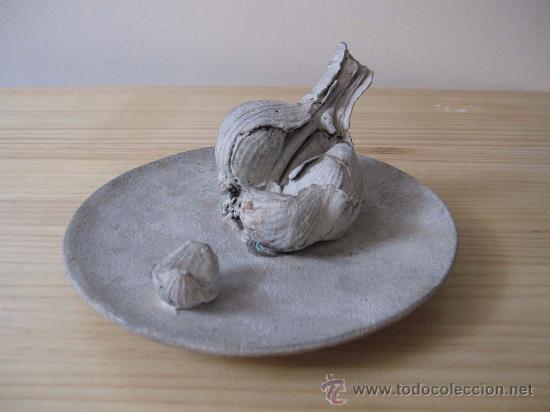 Arte: Bodegón bronce plato con ajos Rafael Muyor - Foto 4 - 38176679