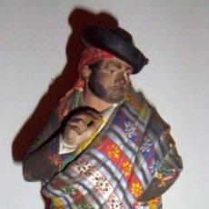 Arte: BARRO MALAGUEÑO DE JOSE CUBERO. MALAGA, SIGLO XIX. BANDOLERO DE RONDA.. Lote 38200749