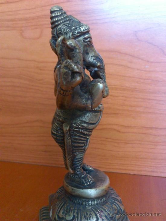 Arte: Escultura antigua en bronce DIOSA GANESHA - Foto 14 - 38578693
