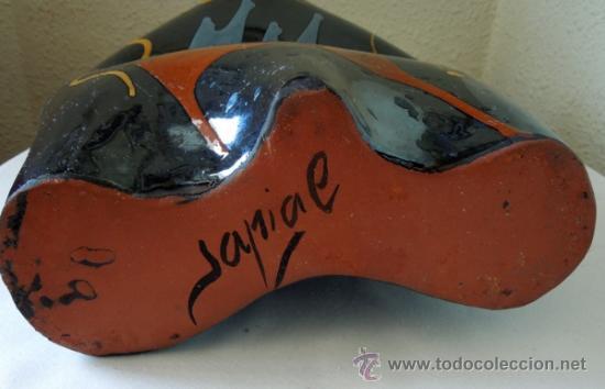 Arte: Escultura cerámica de estilizadas formas, suaves contornos y excelente colorido Con firma de autor - Foto 3 - 38616552
