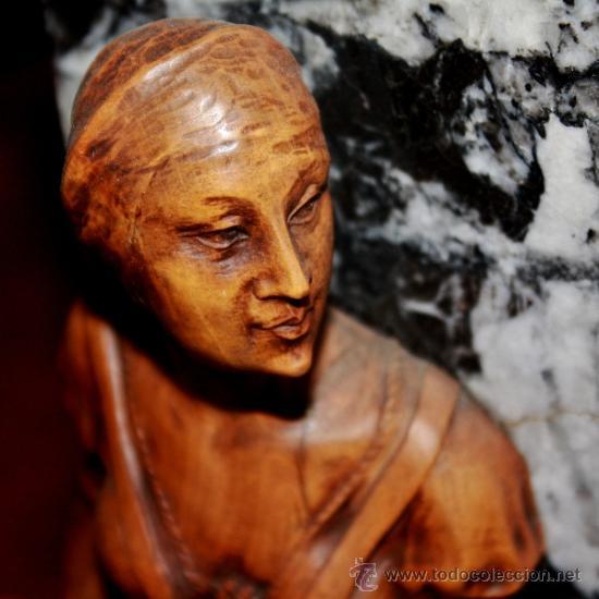 Arte: TALLA EN MADERA DE BOJ-FINALES DEL SIGLO XIX,PODRIA SER DULCINEA DEL TOBOSO - Foto 3 - 40620134