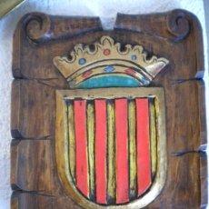 Arte: ESCUDO DE CATALUÑA, TALLA.. Lote 38874204