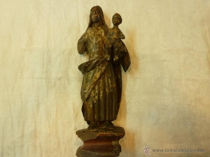 Arte: antigua talla de madera santo - Foto 2 - 39633293